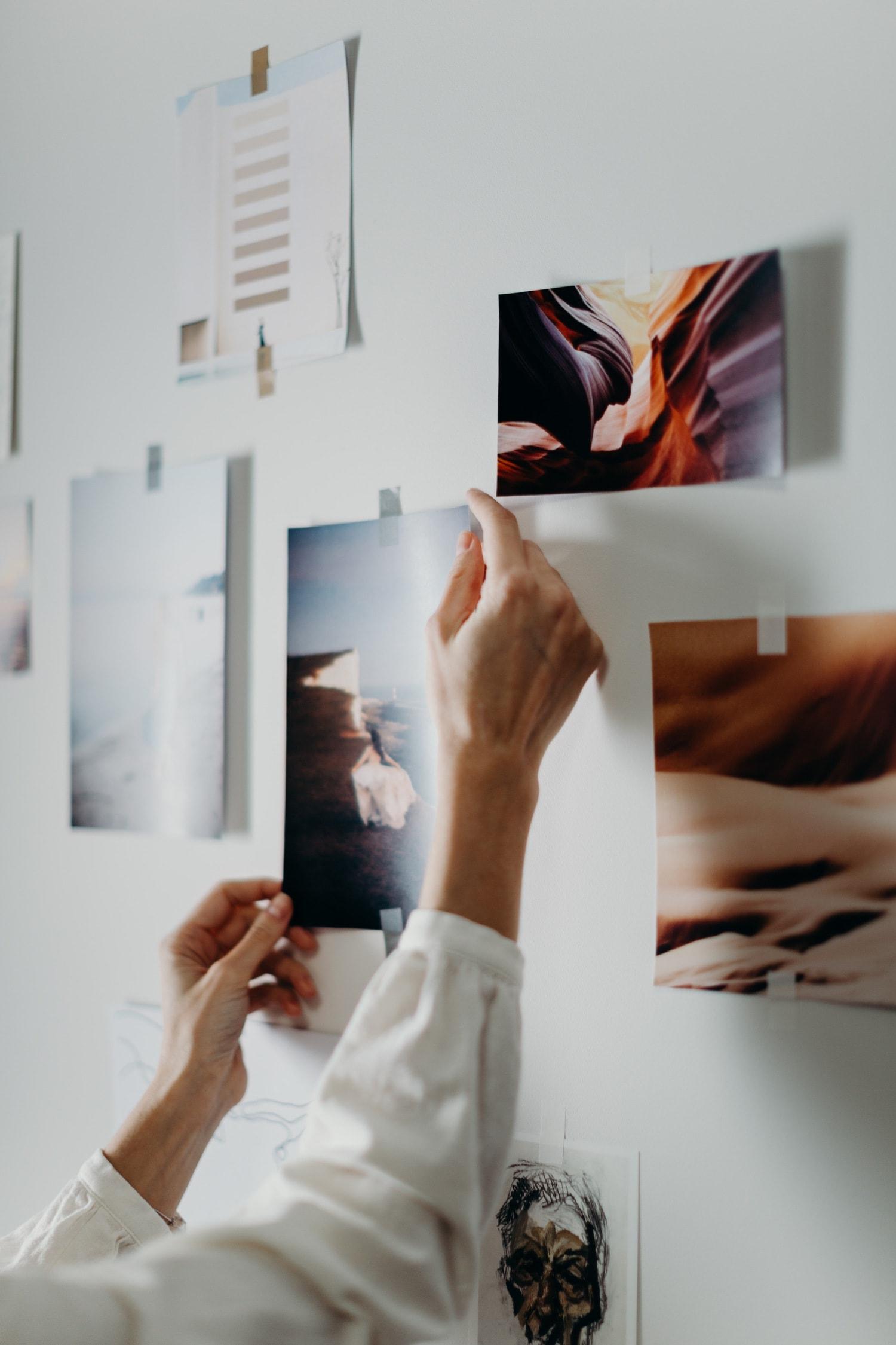Fotos impresas en la pared
