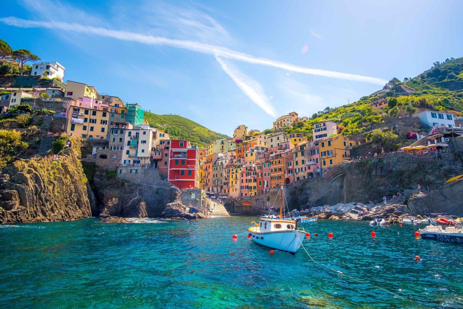 Paisaje costero de Italia