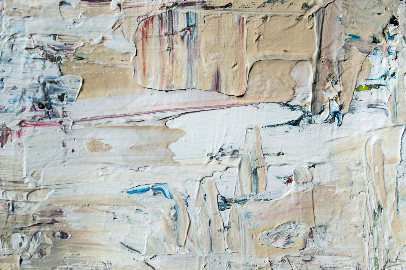 Pintura sobre lienzo que ofrece sensación de tacto visual