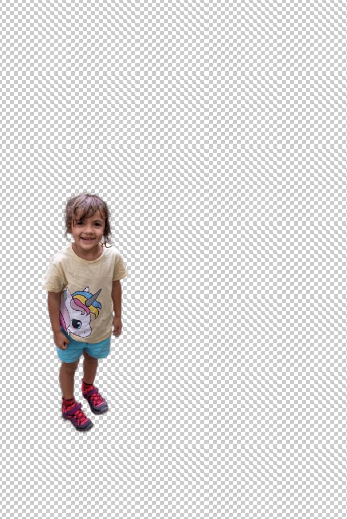 selección photoshop niña