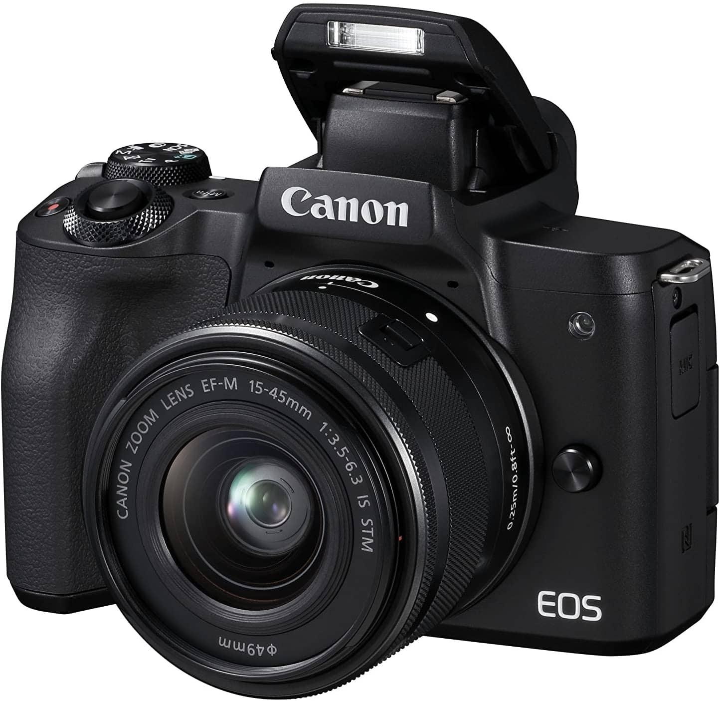 cámara canon eos m50 mirrorless evil sin espejo