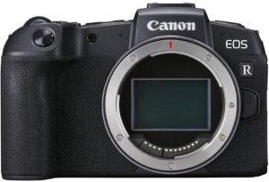 Vista frontal del cuerpo de la Canon EOS RP