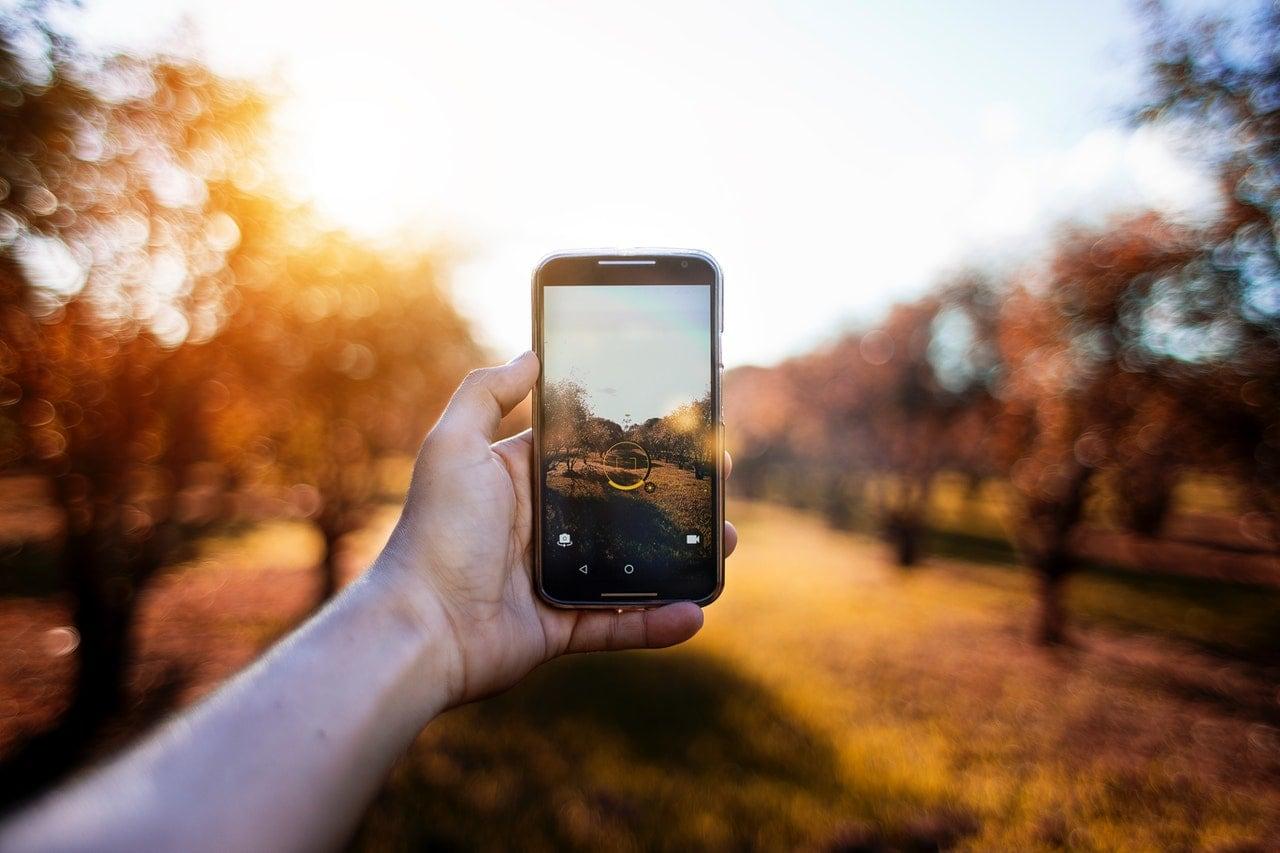 fotografía móvil paisaje otoño