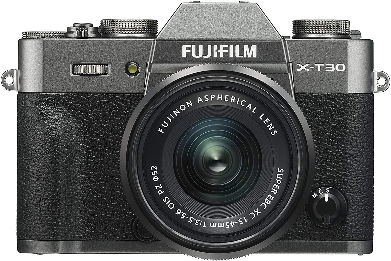 cámara EVIL  Fujifilm x-t30 vista frontal