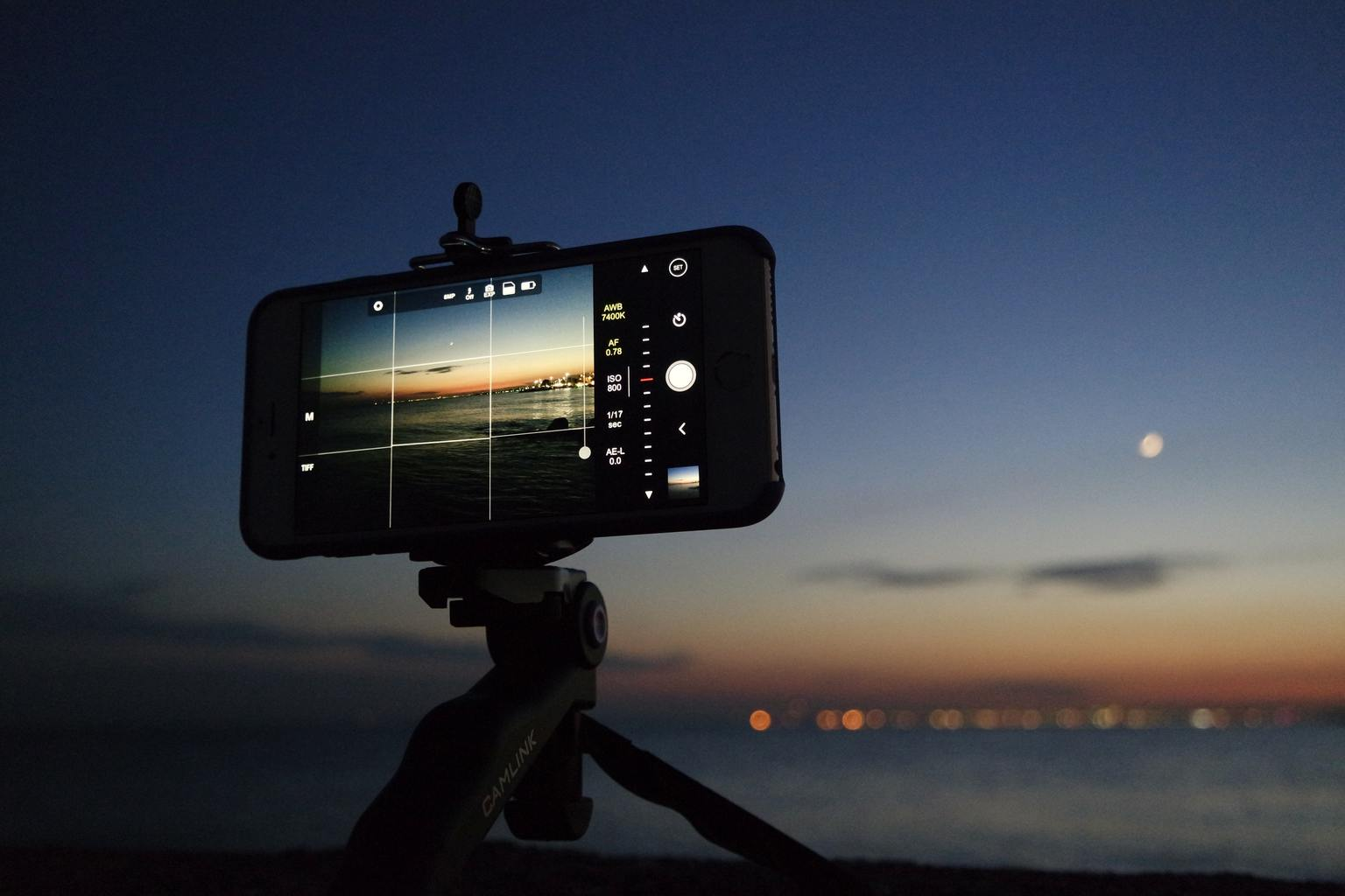 móvil foto nocturna
