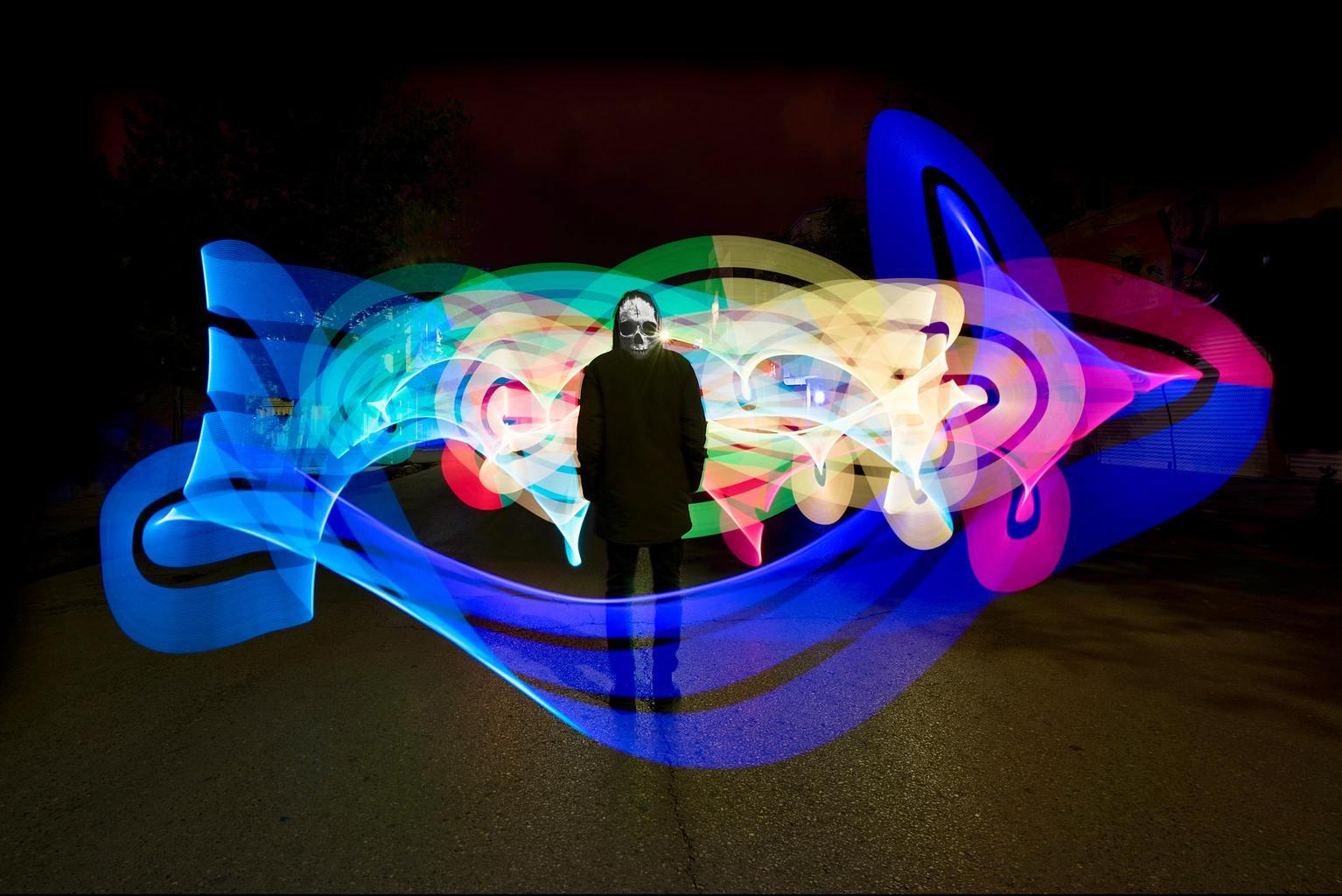 fotografía nocturna lightpainting
