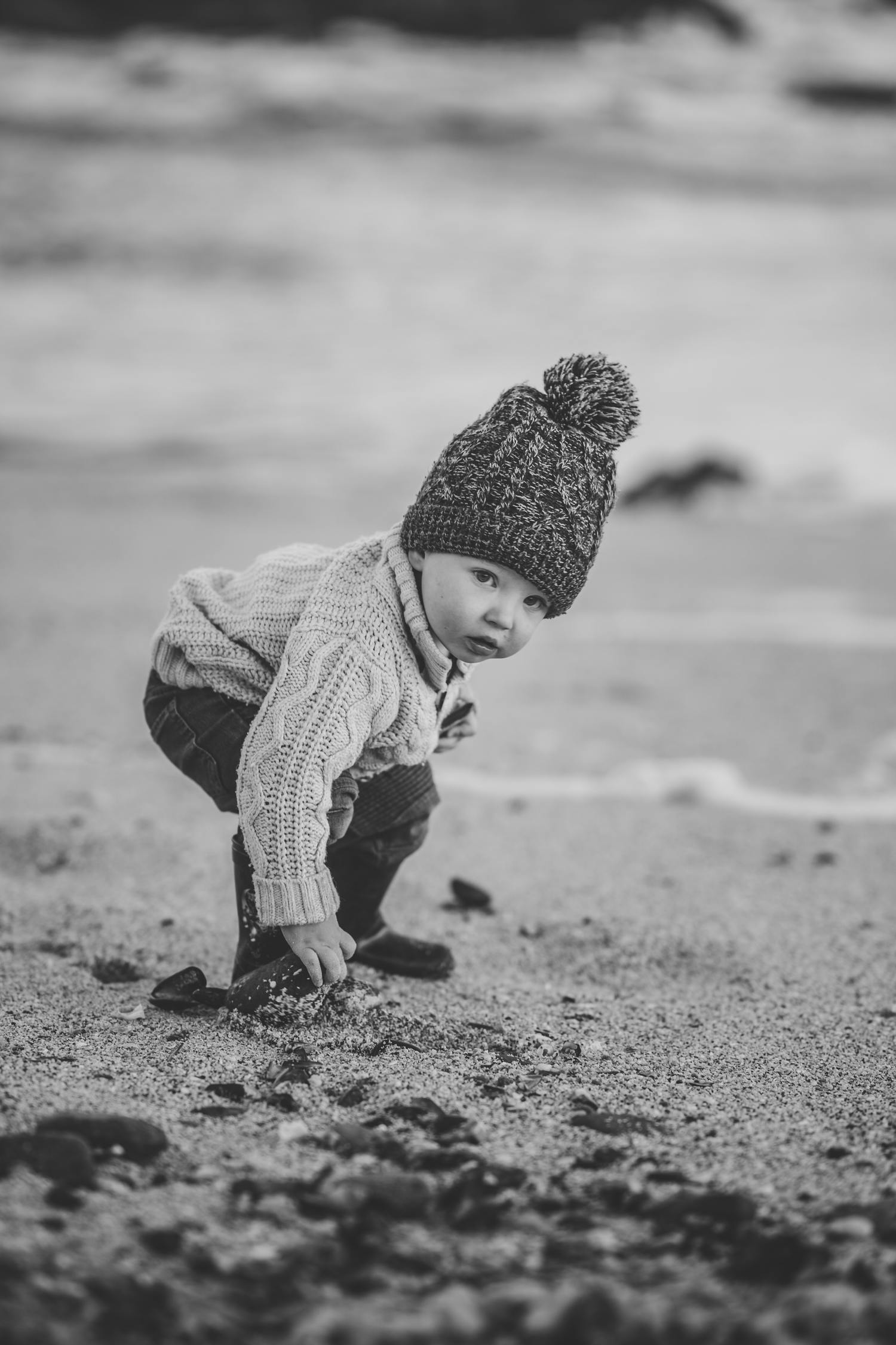 bebé fotografía blanco y negro