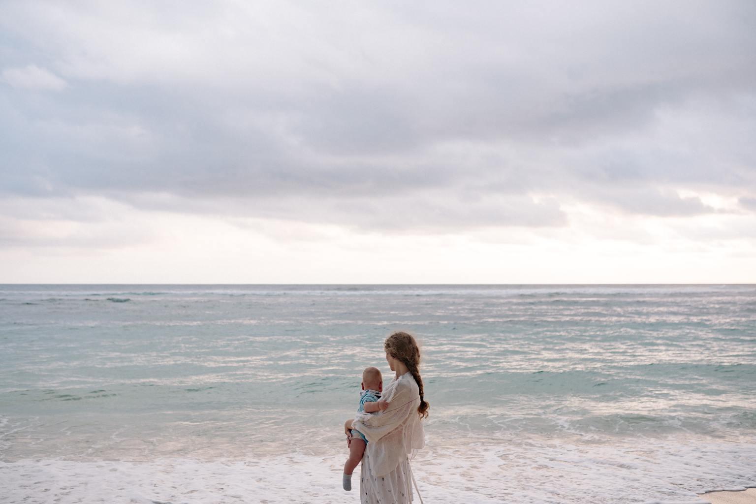 playa babé fotografía madre