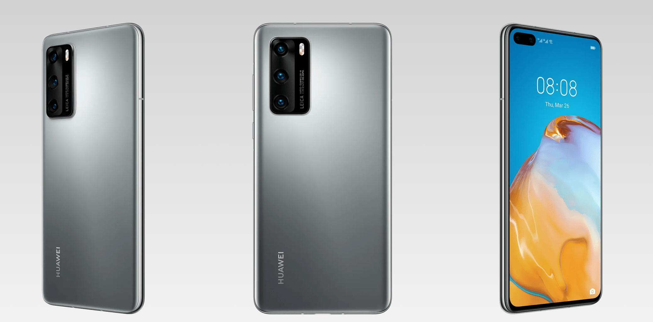 Huawei p40 ángulos