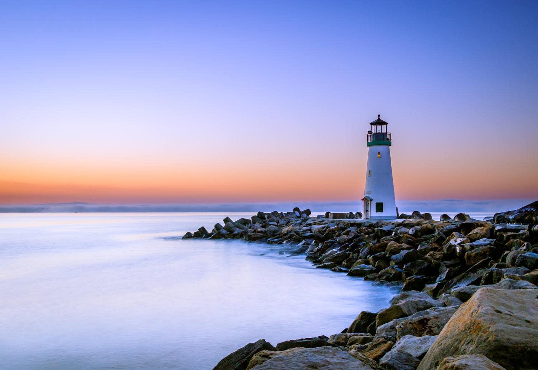 маяк закат