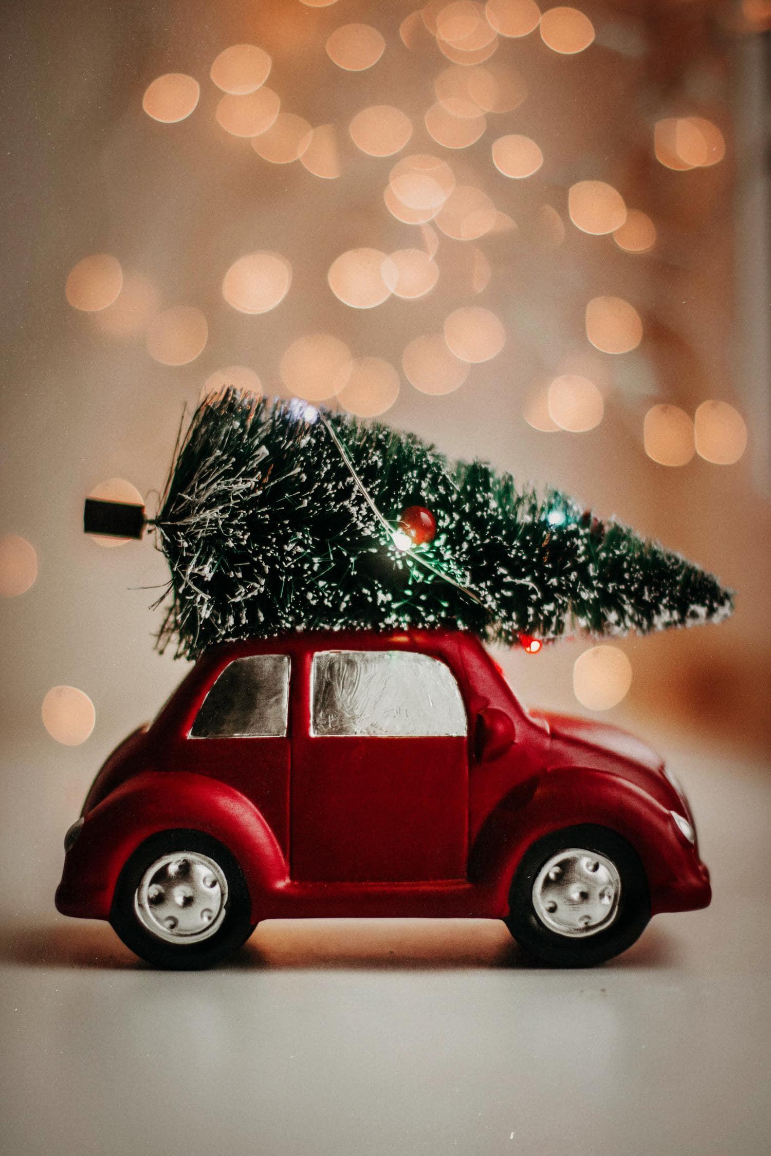 bokeh árbol navidad
