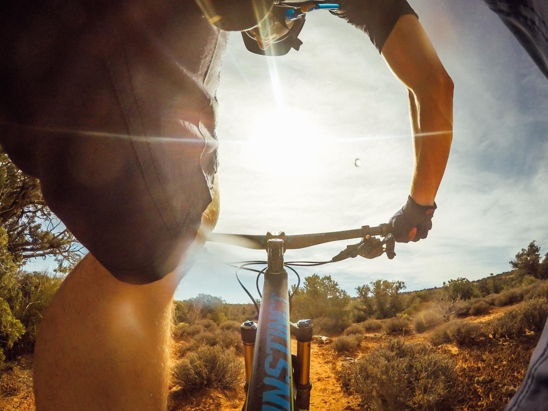 imagen en bicicleta con Hero4