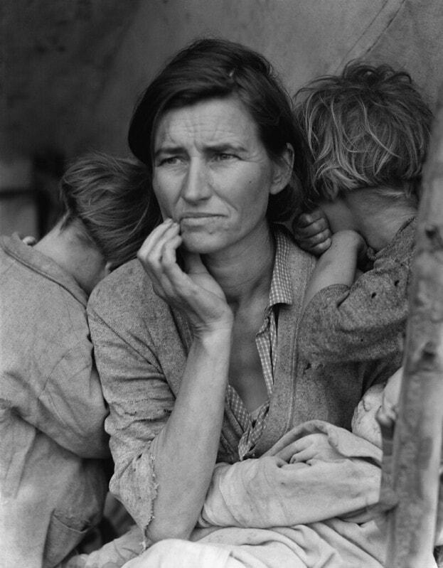 Fotografía realizada por la fotógrafa Dorothea Lange