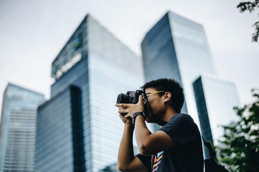 fotógrafo de calle