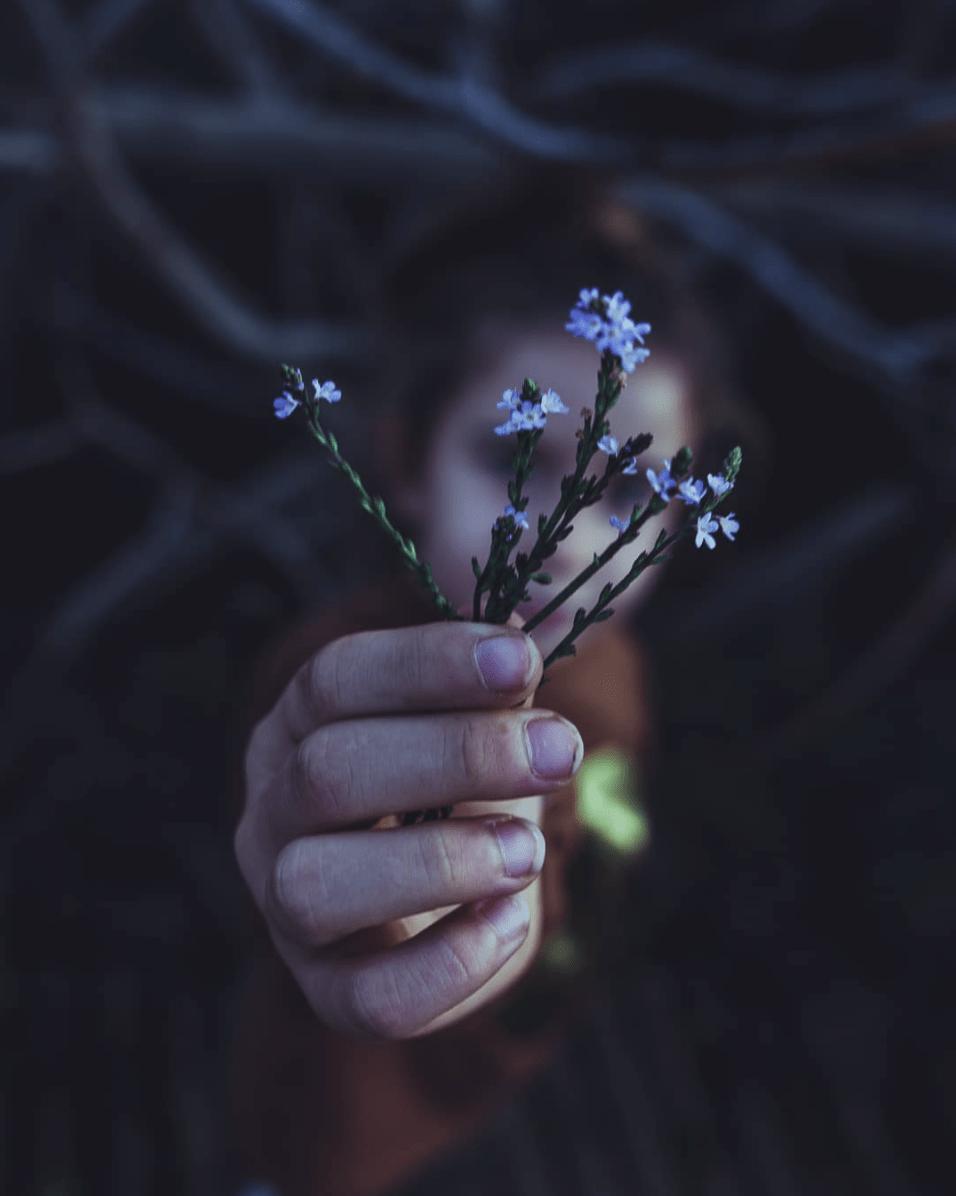 Niña con plantas en la mano ganadora del Fotoreto78