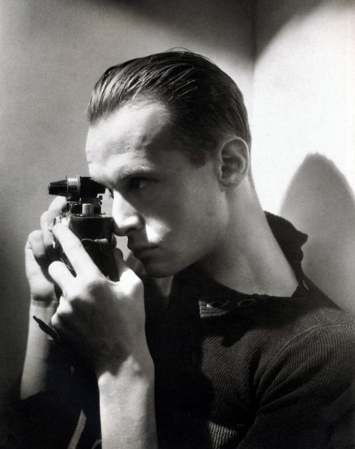 fotógrafo blanco y negro