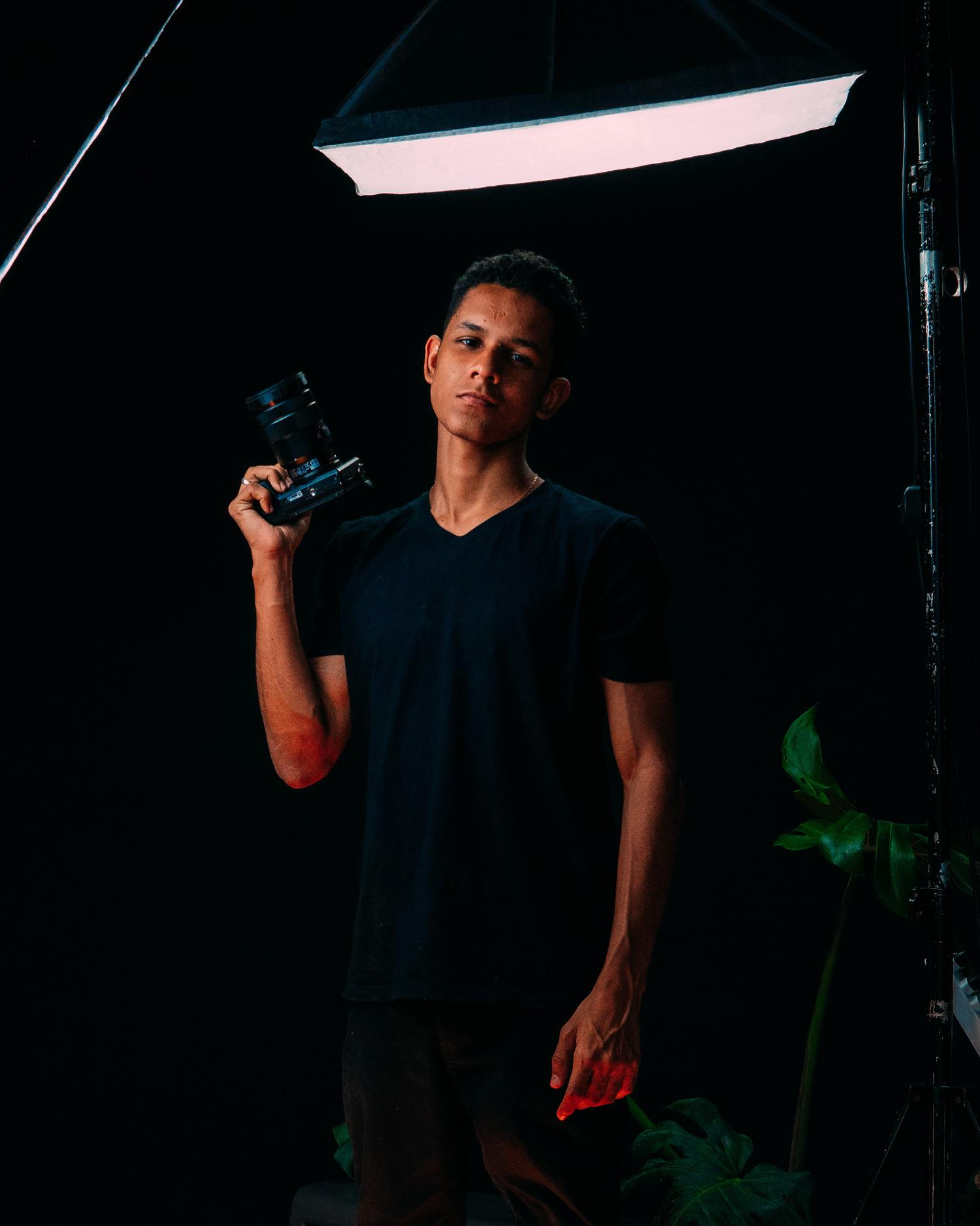 портретное освещение с постоянным светом