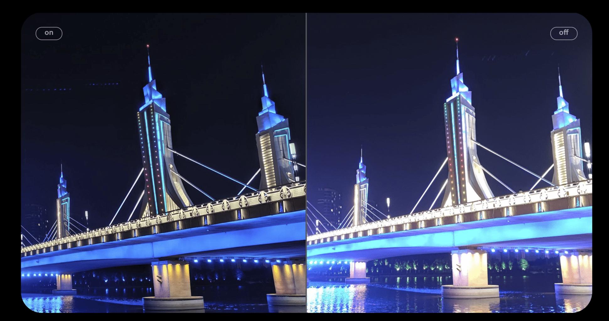 comparativa modo nocturno del Xiaomi Mi 10T Pro