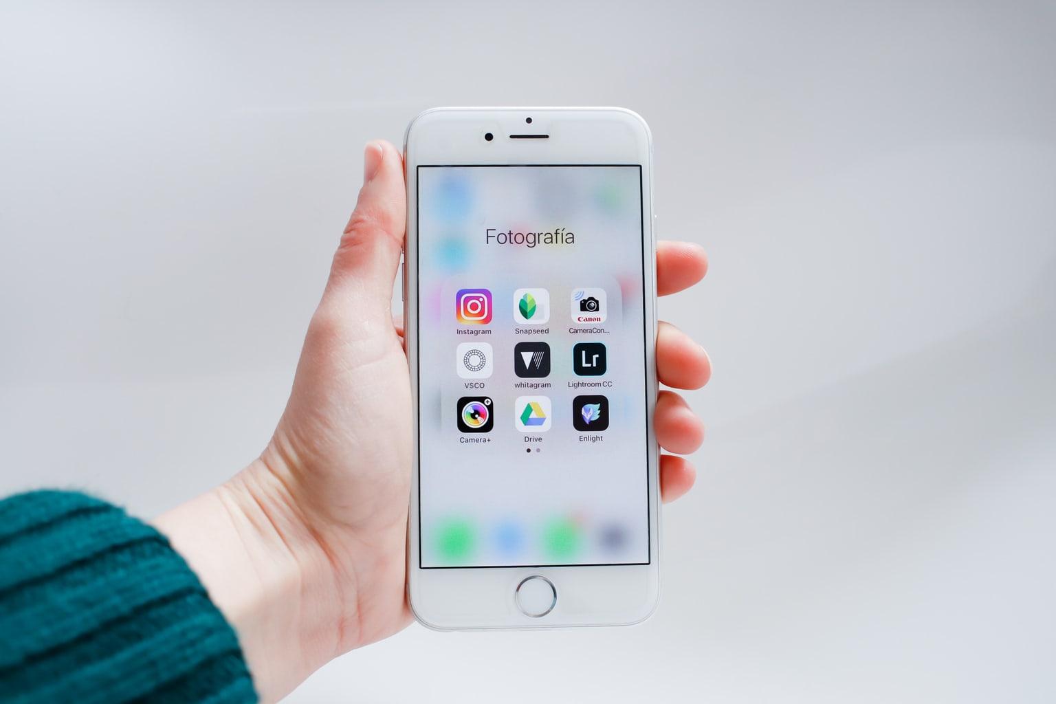 Smartphone con aplicaciones de Photografía