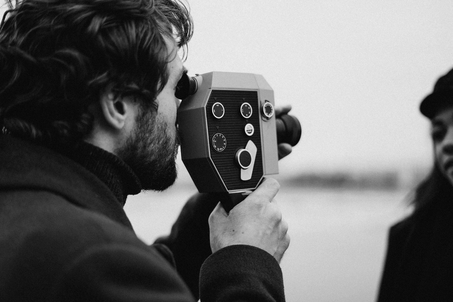 cámara vídeo blanco y negro