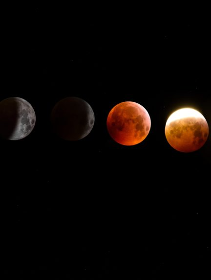 luna en multiexposición