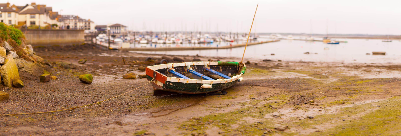 Barca fotografiada con método Brenizer