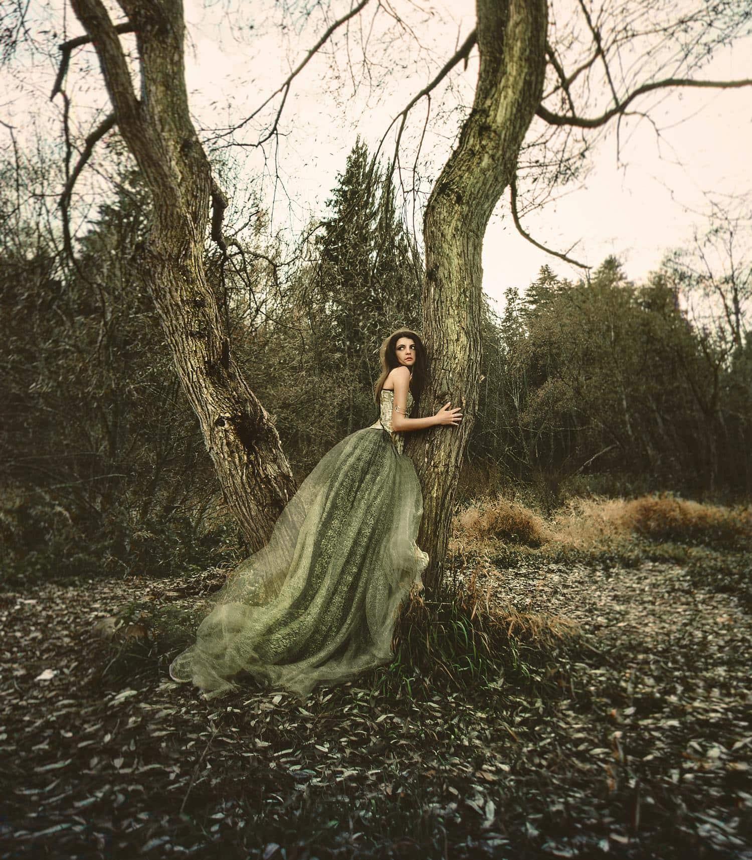retrato fine art bosque