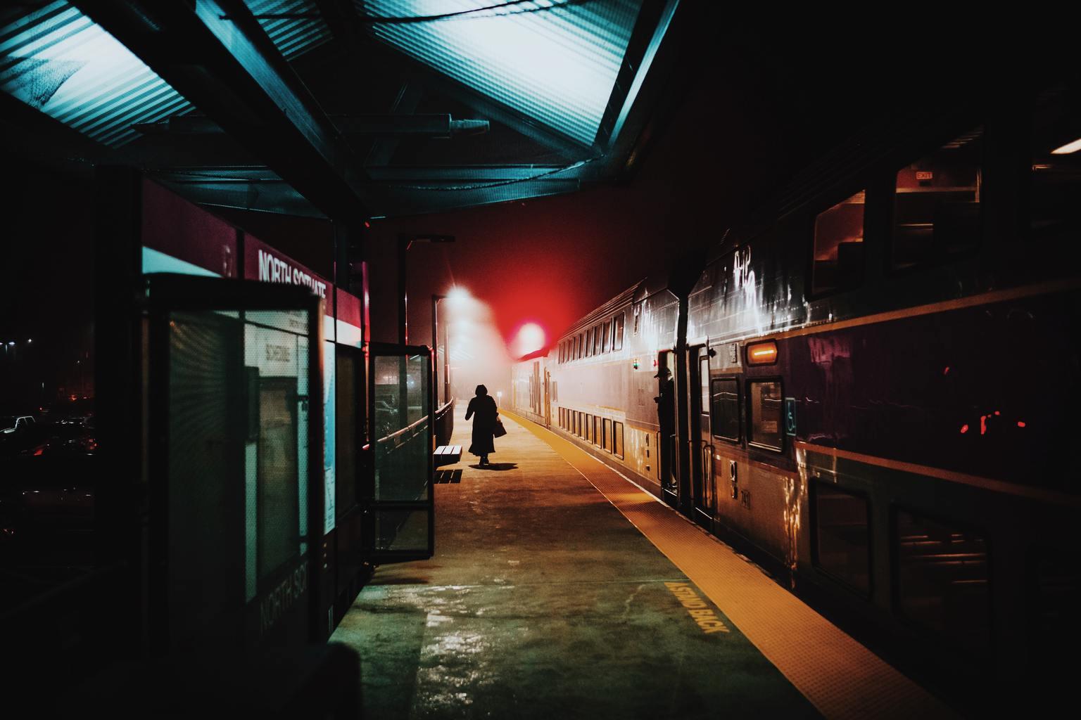 fotografía callejera en una estación