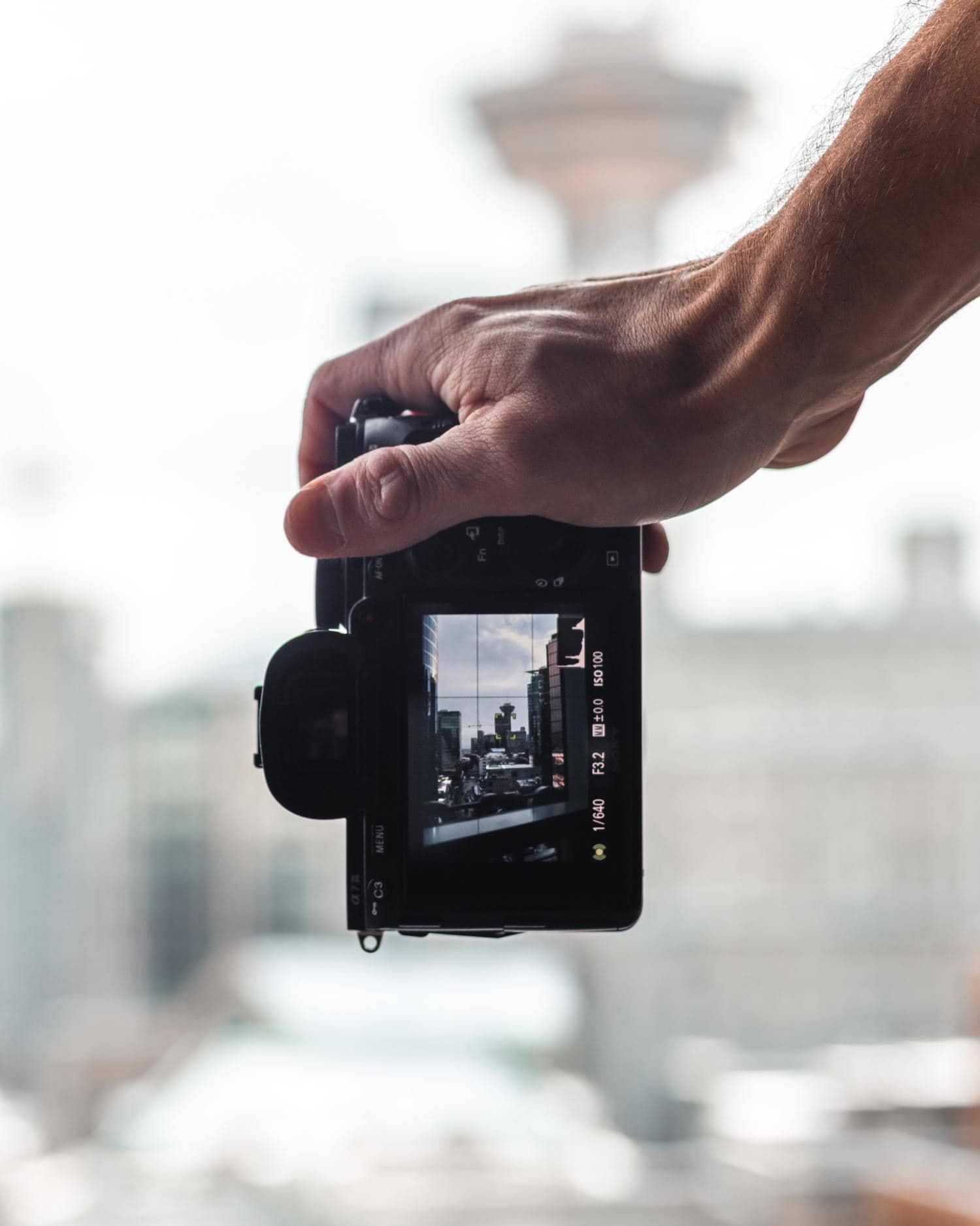 Modo Live View en la cámara