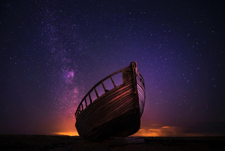 Barco con cielo de estrellas para fotoreto96