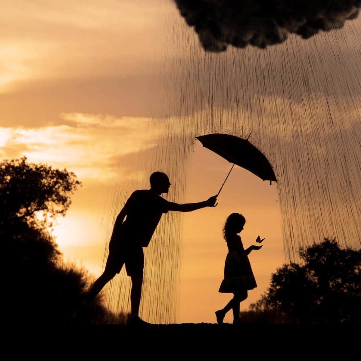 Foto ganadora del fotoreto 93 con padre e hija