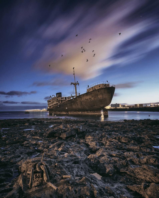 Barco abandonado, imagen ganadora del fotoreto97