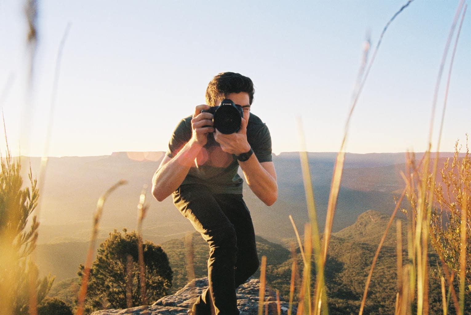 fotógrafo objetivo viaje