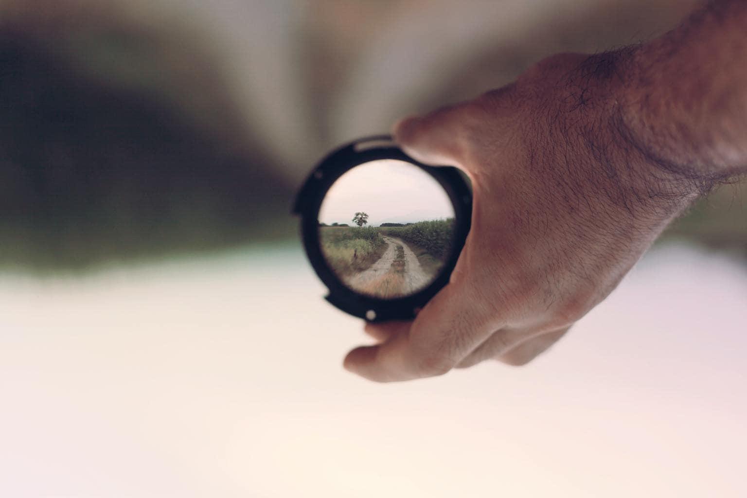 filtro con camino en foco