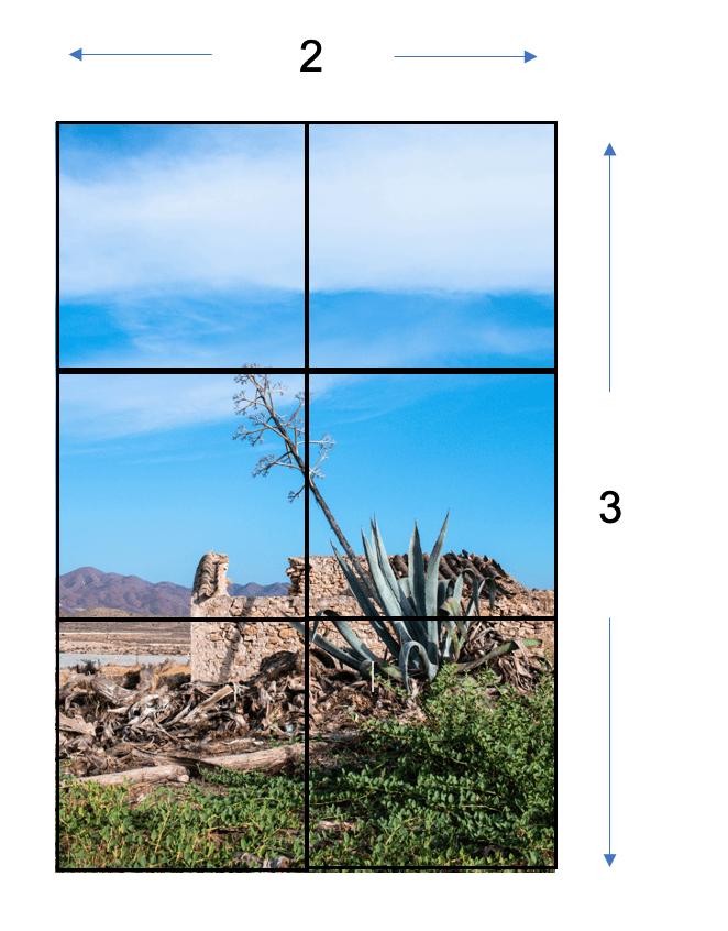 Imagen con cuadros para relación de aspecto 3:2