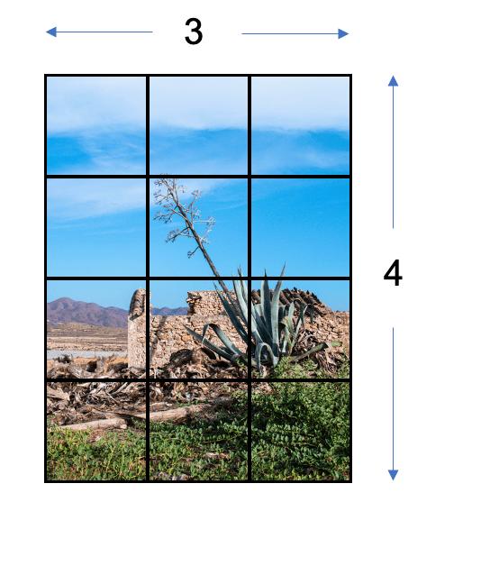 Imagen con cuadros para relación de aspecto 3:4