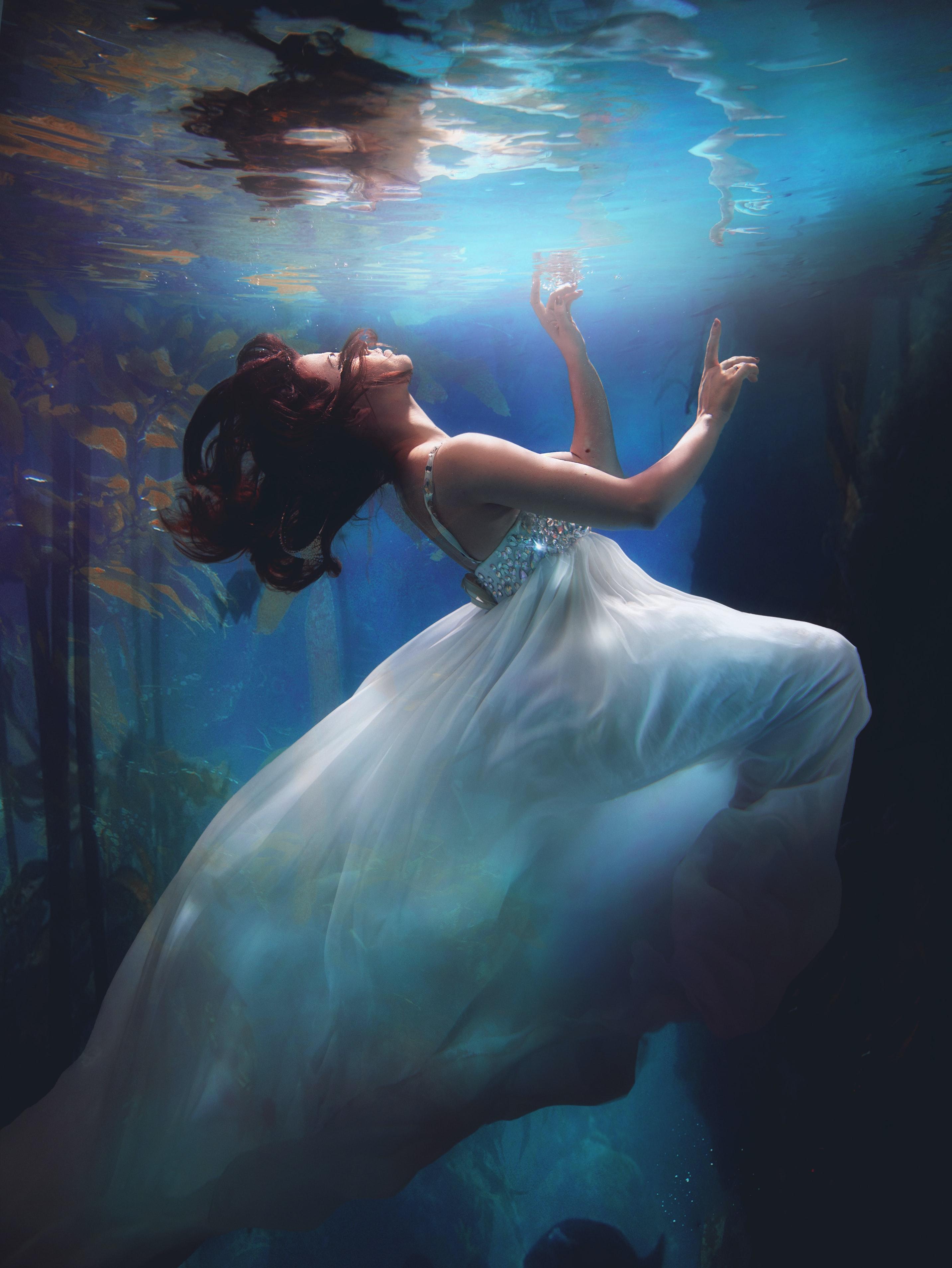 Fotografía artística debajo del agua