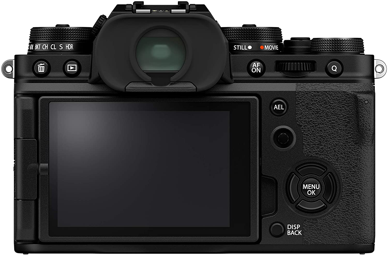 Cámara Fujifilm X-T4 vista trasera