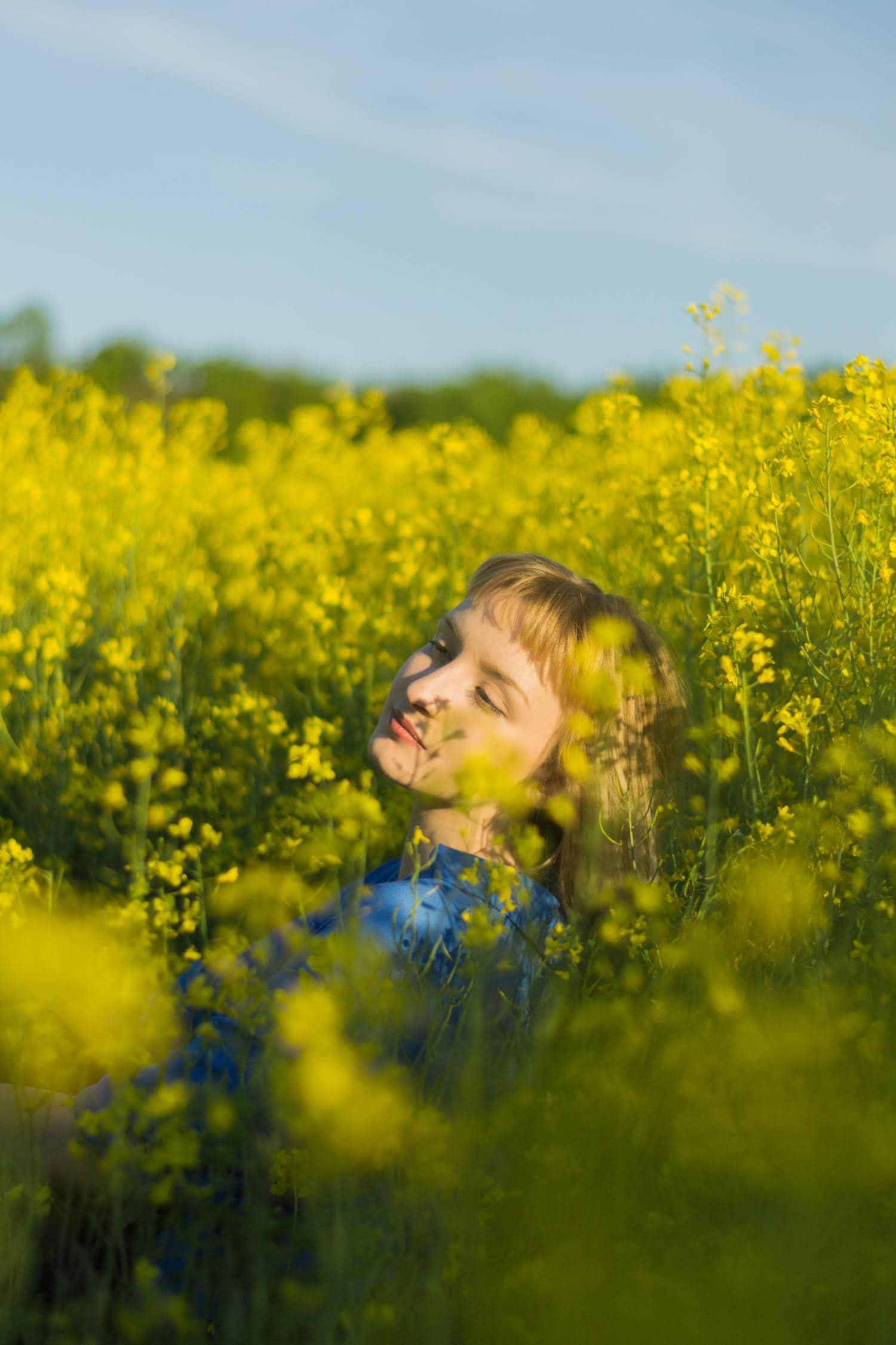retrato primavera flores
