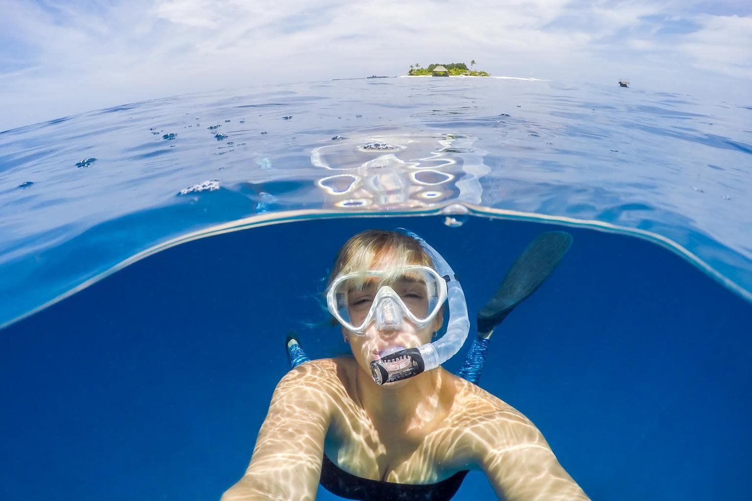 Selfie debajo del agua