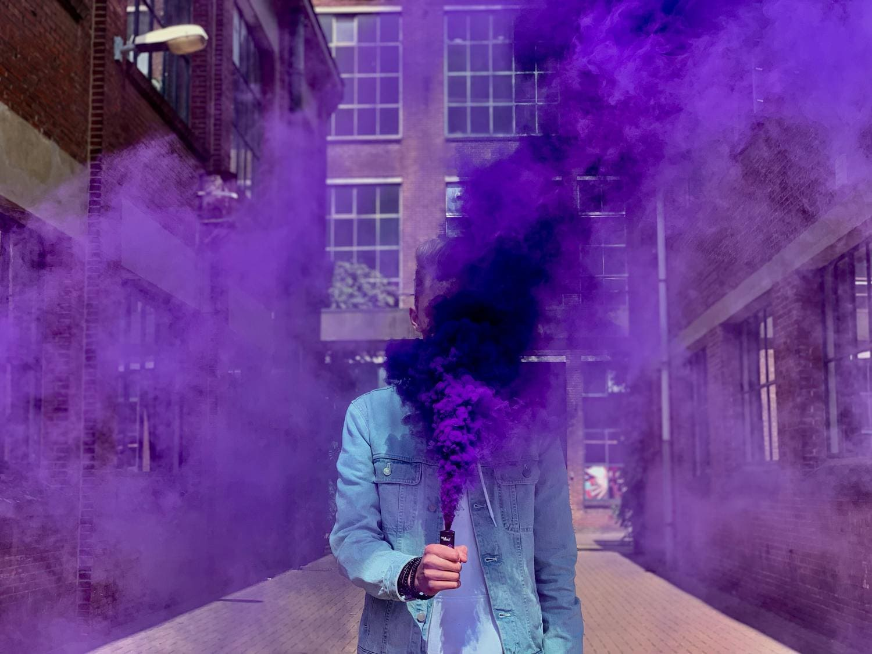Retrato con humo morado para #fotoreto112