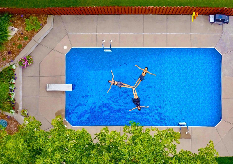 piscina vista desde arriba