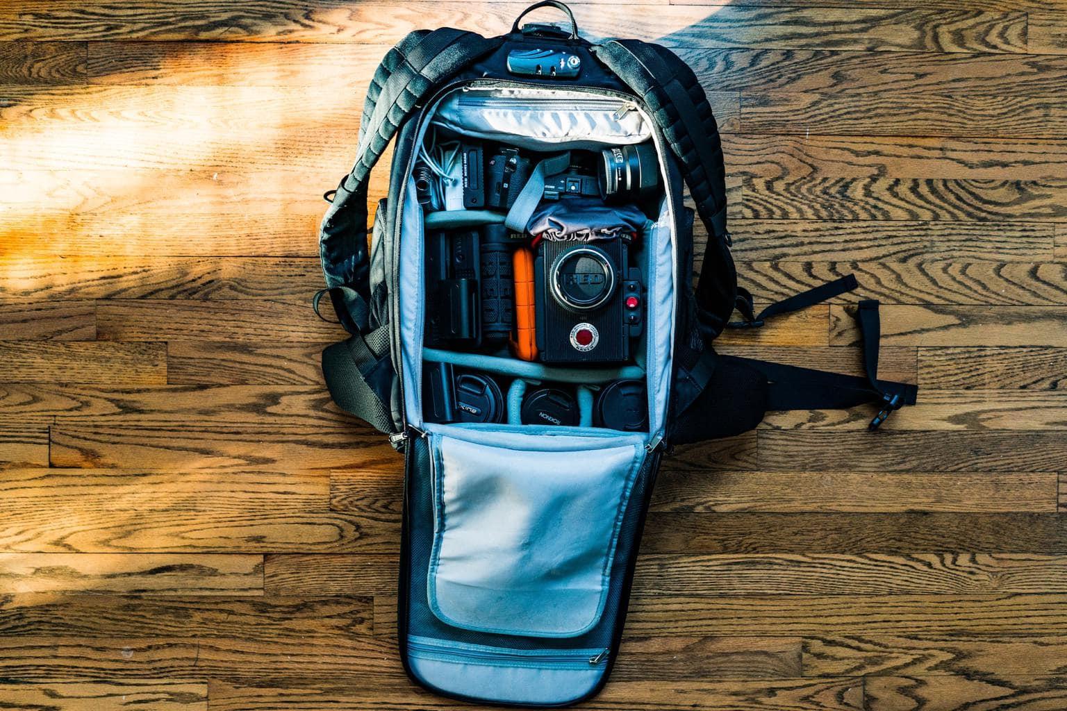 Mochila para equipo de fotografía