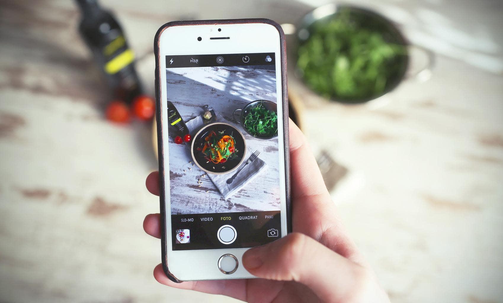 Fotografía gastronómica con móvil.