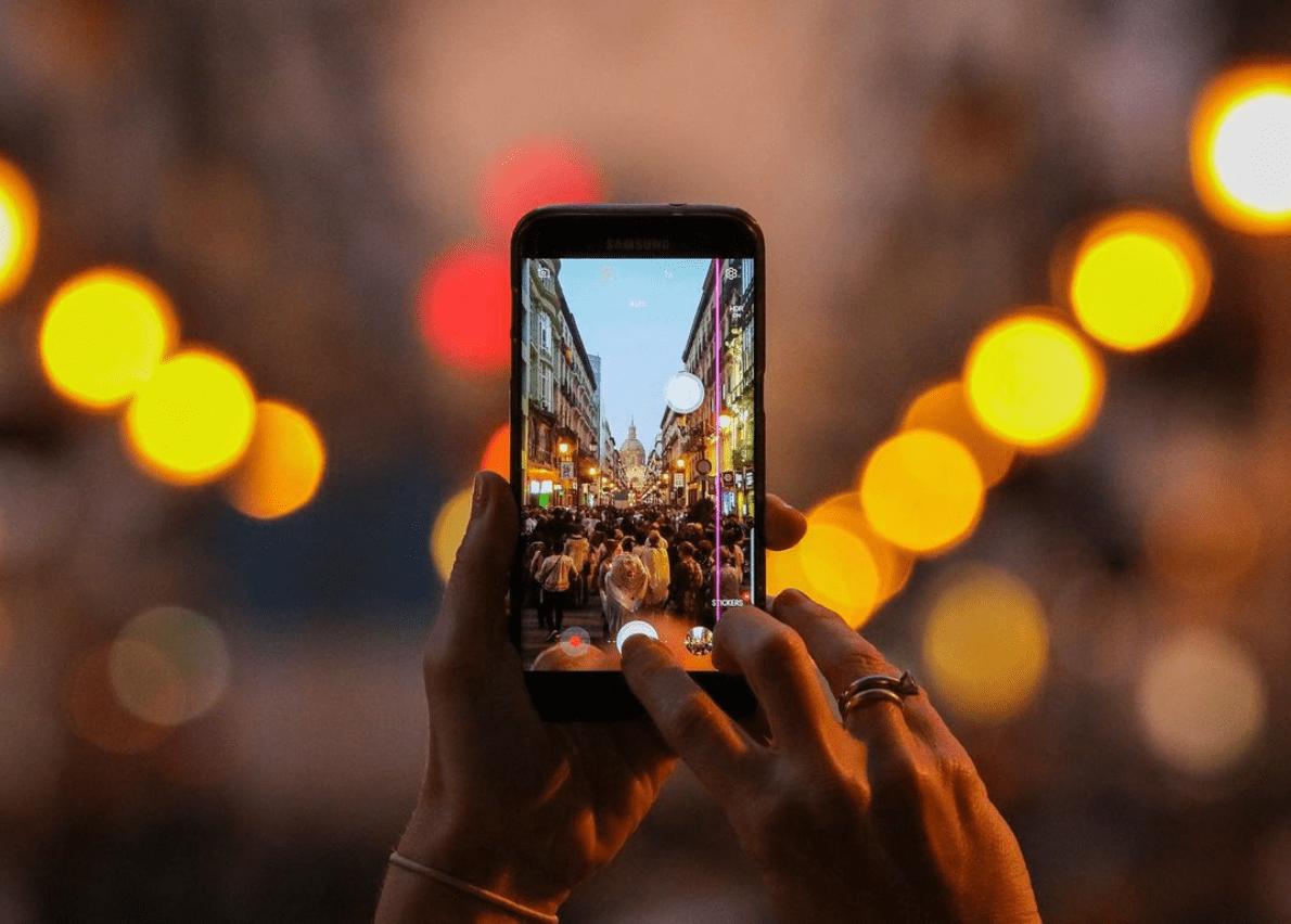 Noche a través de un móvil, fotografía ganadora del #fotoreto104