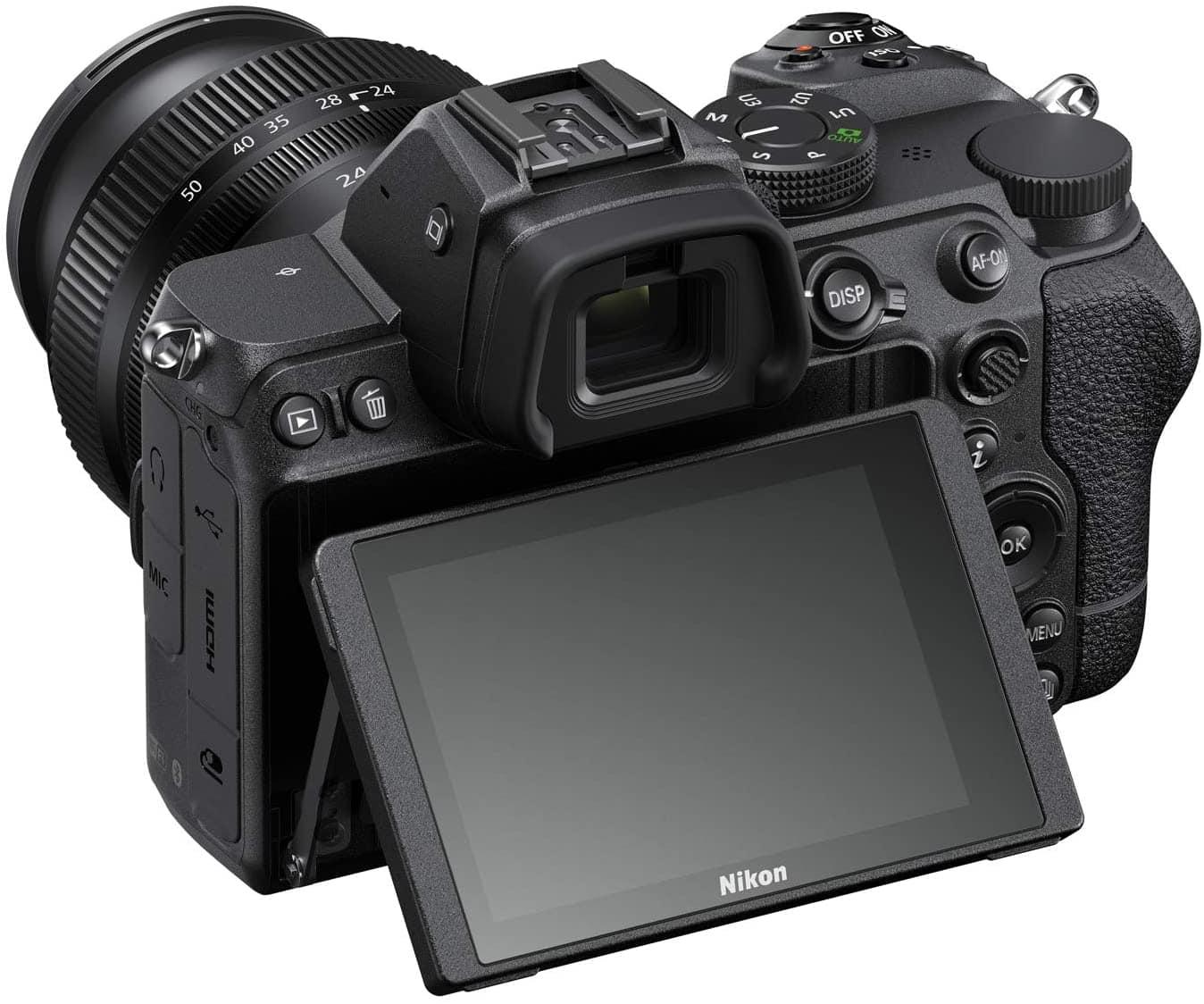 Pantalla abatida en Nikon Z5