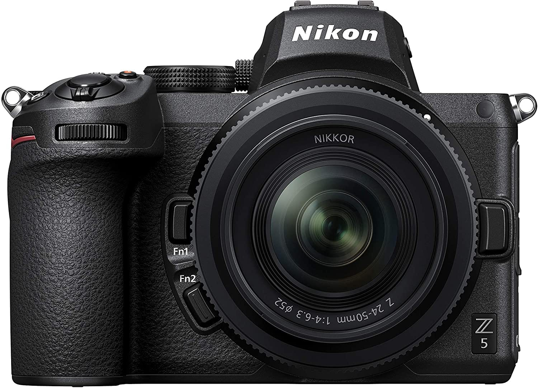 Vista de la cámara Nikon Z5 frontal