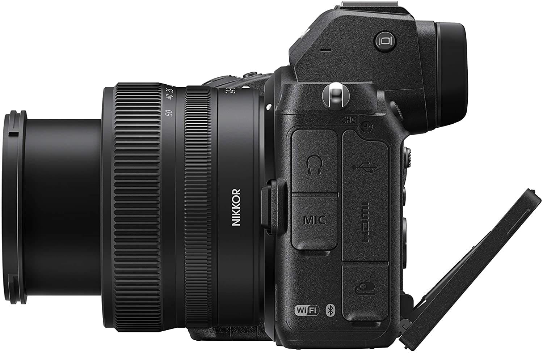 Vista lateral de la cámara Nikon Z5
