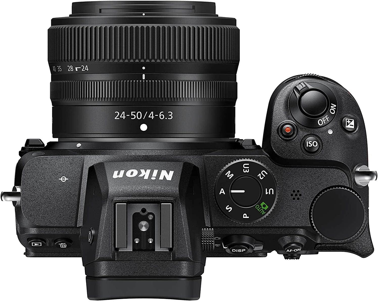 Vista superior de la Nikon Z5