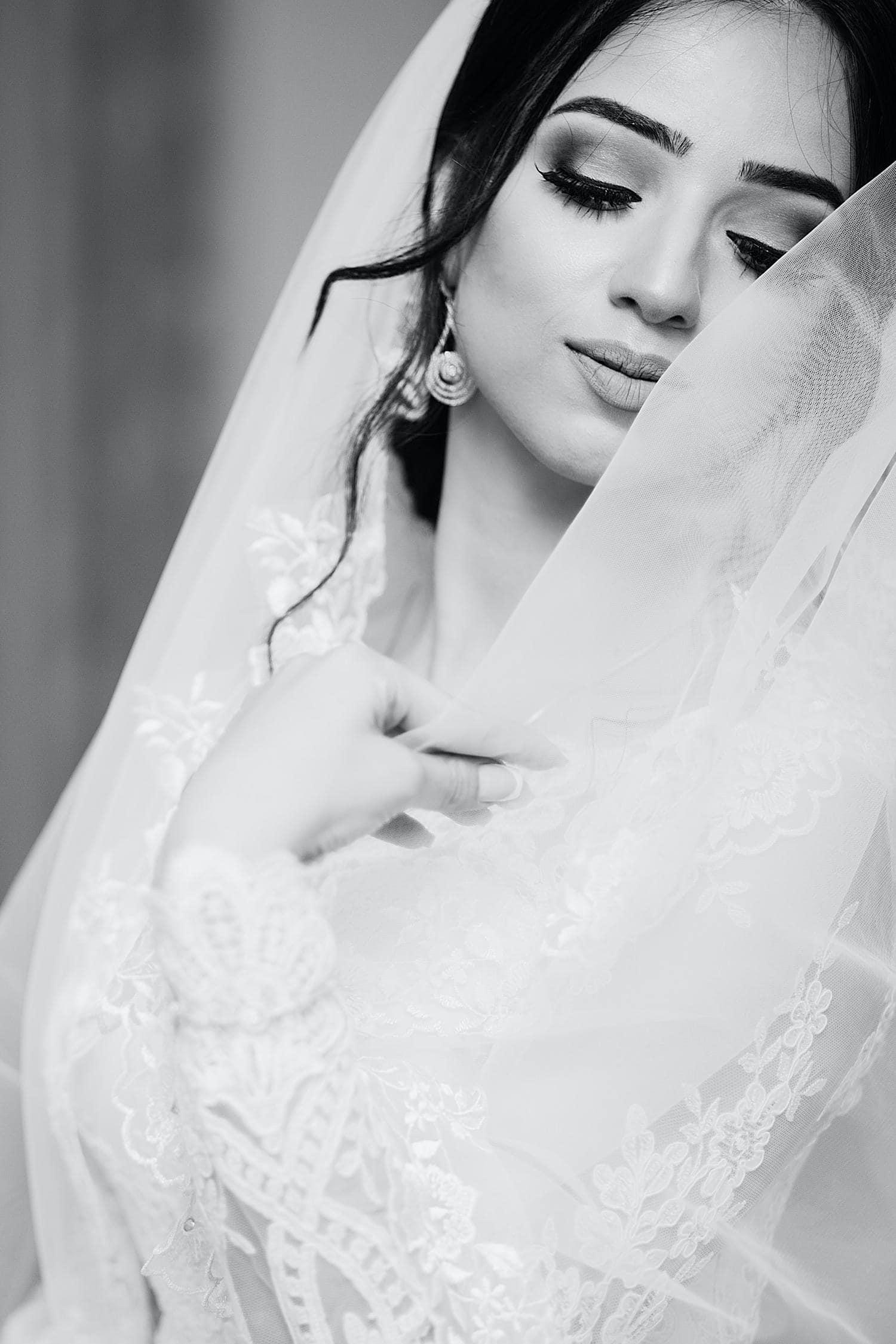 Retrato de novia fotografiado con un objetivo 85mm